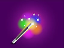 Magic wand. A illustration of a magic wand Royalty Free Stock Image