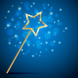 Magic wand on blurry background Stock Photo