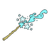 Magic wand casting spell Stock Photo