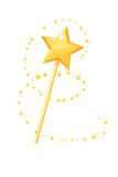 Magic wand. This is file of EPS10 format Royalty Free Stock Images