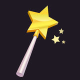Magic wand with golden star Stock Images