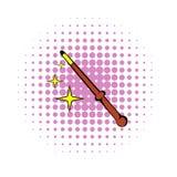 Magic wand icon, comics style Royalty Free Stock Image