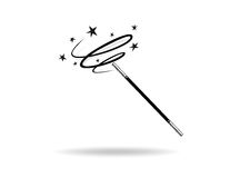 Magic wand. Illustration of a magic wand in action Stock Images