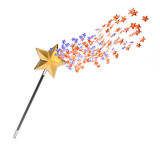 Magic wand. Isolated on white background. 3d render Royalty Free Stock Photography