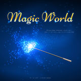 Magic wand mystery vector background Royalty Free Stock Photo