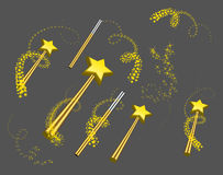 Magic wand set Royalty Free Stock Photography