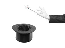 Magic wand and silk top hat Royalty Free Stock Photos