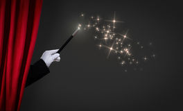 Magic wand on stage Royalty Free Stock Photography