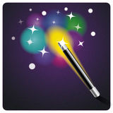Magic wand and stars Stock Images