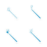 Magic wand with stars and sparkles. Royalty Free Stock Photo