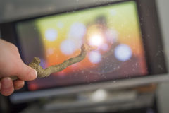 Magic Wand Television Royalty Free Stock Images