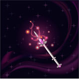 Magic wand witch pink gem Royalty Free Stock Photos