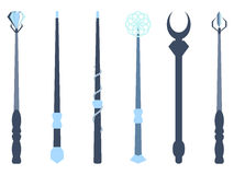 Magic wands. Magic and magical objects. Wizard tool. Royalty Free Stock Image