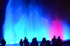 The magic water circuit in Lima Perú Royalty Free Stock Image