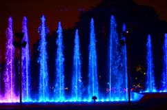 The magic water circuit in Lima Perú Stock Photo