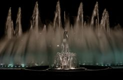 The Magic Water Show. In the city of Lima, Peru Stock Photos