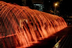 The Magic Water Show. In Lima, Peru Royalty Free Stock Photography