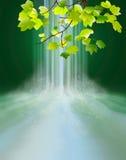 Magic waterfall royalty free illustration