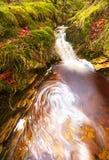 Magic Waterfall. Small Water Fall from Exmoor Royalty Free Stock Photo