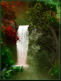 Magic waterfall Royalty Free Stock Photos