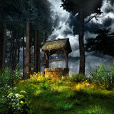 Magic well in the forest. Magic well in the middle of the forest royalty free illustration