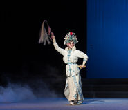 """The magic of whisk-The fifth act Steal immortal-Kunqu Opera""""Madame White Snake"""" Royalty Free Stock Photo"""
