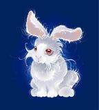 Magic white rabbit vector illustration
