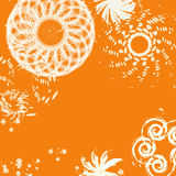Magic white twirl on a orange background Royalty Free Stock Photography