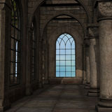Magic window in a fantasy setting Stock Photo
