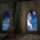 Magic window in a fantasy setting Royalty Free Stock Photos