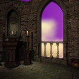 Magic window in a fantasy setting Stock Photography