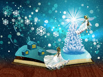 Magic winter book Stock Image