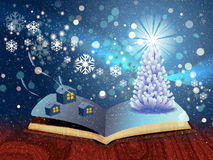 Magic winter book Stock Photo