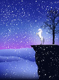 Magic winter vector Stock Image