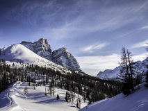 Magic winter scene, Dolomites, Italy Royalty Free Stock Images