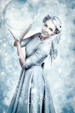 Magic Winter Woman In Luxury Fashion And Makeup Royalty Free Stock Photo