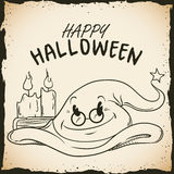 Magic Wizard Hat with Candles in Halloween Poster Stock Photos