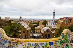 Magic wonderful gardens in Barcelona Stock Photography