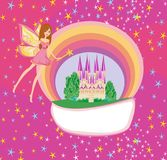 Magic world of tales. Vector Illustration Royalty Free Stock Photography