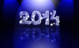 Magic year 2014. New year 2014 festive card Stock Photo