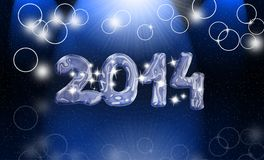 Magic year 2014. New year 2014 festive card Royalty Free Stock Photo