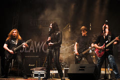 Magica Performing Live at Seawolves. Bike Fest 4, one of the biggest and well organized in Romania Stock Photo