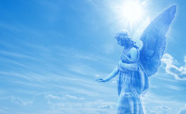 Magical angel in heaven Stock Photos