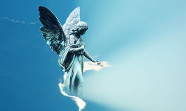 Magical angel in heaven inspiration from God Stock Image