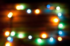 Magical background with colorful bokeh, copy space Royalty Free Stock Photography