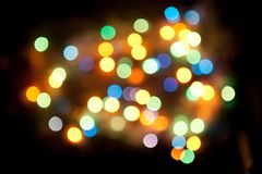 Magical background with colorful bokeh Royalty Free Stock Photos