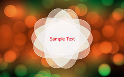 Magical background with colorful vector bokeh Royalty Free Stock Photo
