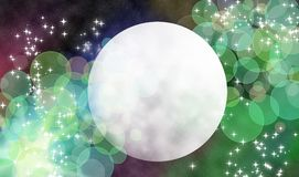 Magic moon. Magical background, moon in universe Stock Photography