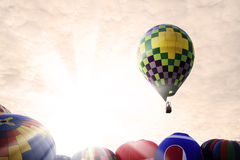 Magical balloon ride Stock Images