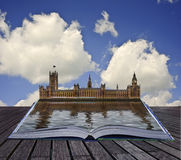 Magical book with Houses of Parliament Royalty Free Stock Images